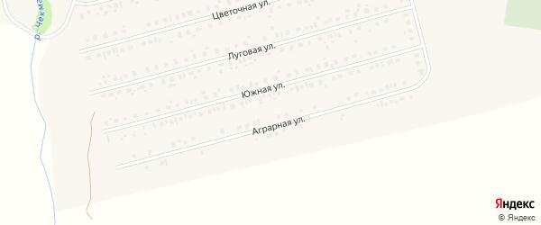 Аграрная улица на карте села Чекмагуш с номерами домов