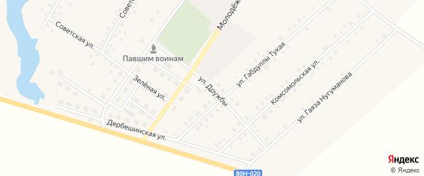 Улица Дружбы на карте села Исмаилово с номерами домов