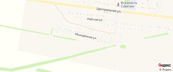 Молодежная улица на карте села Гафури с номерами домов