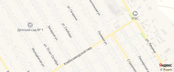 Улица Гагарина на карте села Чекмагуш с номерами домов