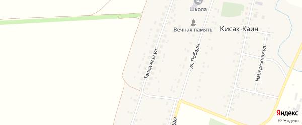 Тепличная улица на карте села Кисака-Каина с номерами домов