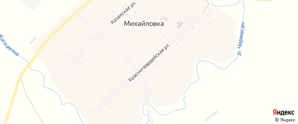 Красногвардейская улица на карте села Михайловки с номерами домов