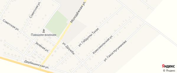 Габдуллы Тукая улица на карте села Исмаилово с номерами домов