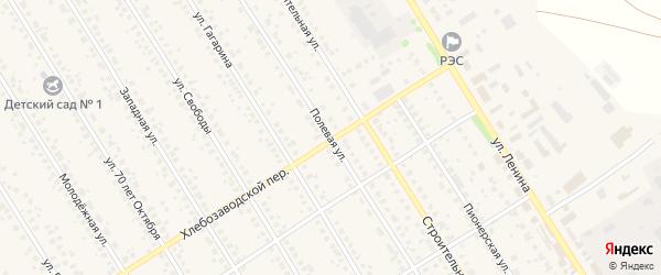 Полевая улица на карте села Чекмагуш с номерами домов