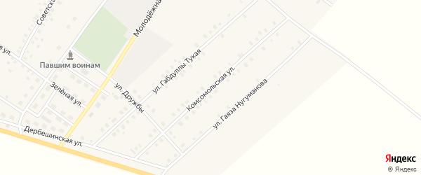 Комсомольская улица на карте села Исмаилово с номерами домов