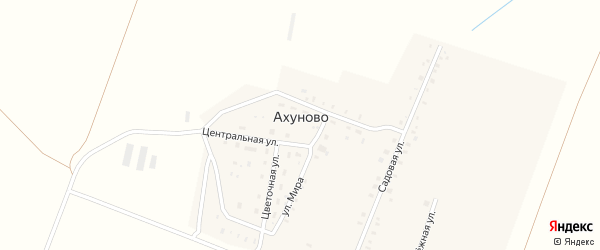 Улица Мира на карте деревни Ахуново с номерами домов