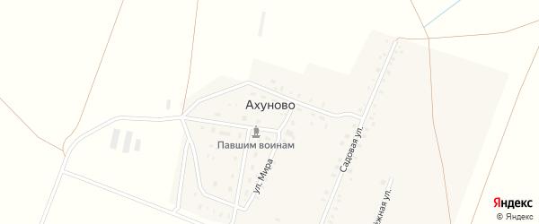 Садовая улица на карте деревни Ахуново с номерами домов