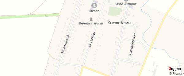 Улица Победы на карте села Кисака-Каина с номерами домов