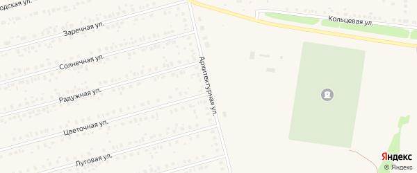 Архитектурная улица на карте села Чекмагуш с номерами домов