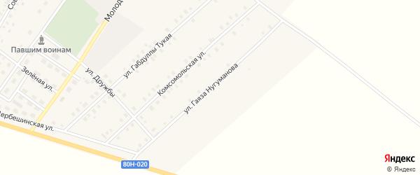 Улица Гаяза Нугуманова на карте села Исмаилово с номерами домов