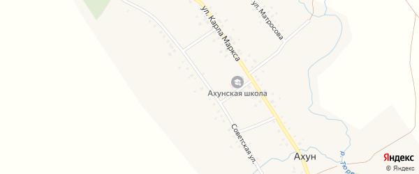 Советская улица на карте села Ахуна с номерами домов