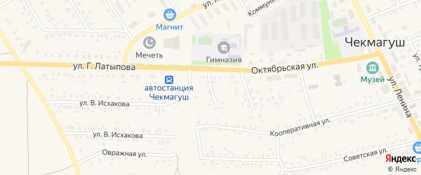 Садовая улица на карте села Чекмагуш с номерами домов
