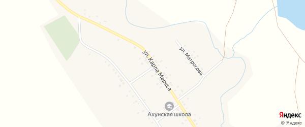 Улица Карла Маркса на карте села Ахуна с номерами домов
