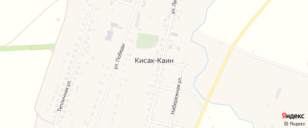 Железнодорожная улица на карте села Кисака-Каина с номерами домов