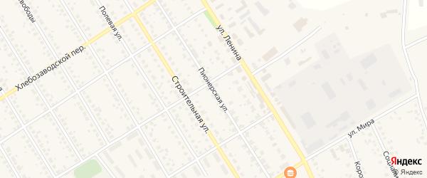Пионерская улица на карте села Чекмагуш с номерами домов