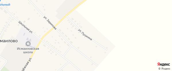 Улица Пушкина на карте села Исмаилово с номерами домов