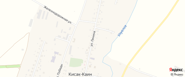 Улица Ленина на карте села Кисака-Каина с номерами домов