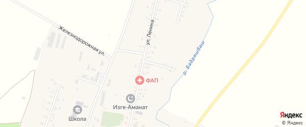 Набережная улица на карте села Кисака-Каина с номерами домов