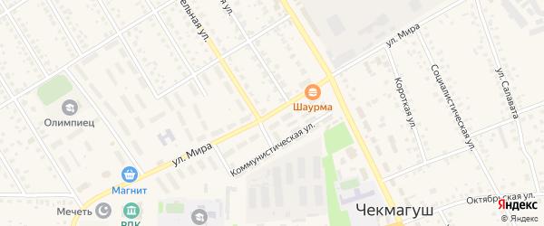 Улица Мира на карте села Чекмагуш с номерами домов
