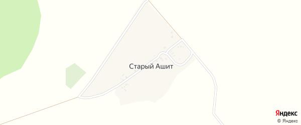 Горная улица на карте деревни Старого Ашита с номерами домов