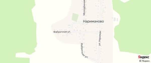 Фабричная улица на карте деревни Нариманово с номерами домов