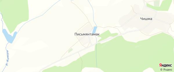 Карта деревни Письмянтамака в Башкортостане с улицами и номерами домов
