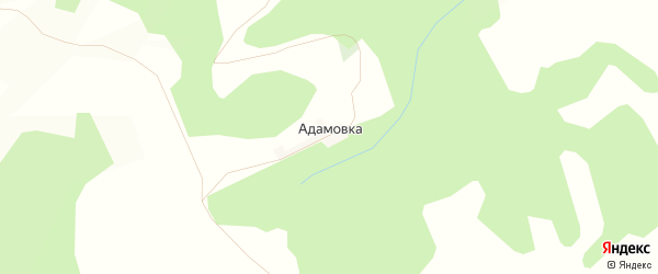 Карта деревни Адамовки в Башкортостане с улицами и номерами домов