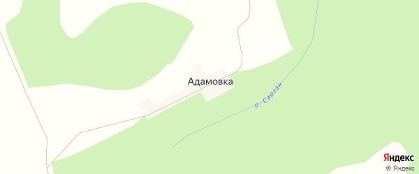 Центральная улица на карте деревни Адамовки с номерами домов