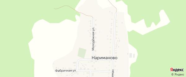 Молодежная улица на карте деревни Нариманово с номерами домов