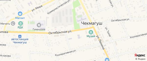 Октябрьская улица на карте села Чекмагуш с номерами домов