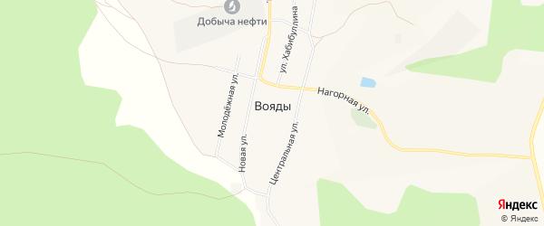 Карта села Вояды в Башкортостане с улицами и номерами домов