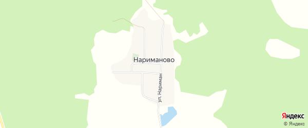 Карта деревни Нариманово в Башкортостане с улицами и номерами домов