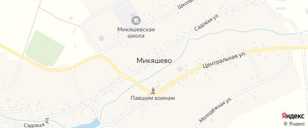 Школьная улица на карте села Микяшево с номерами домов