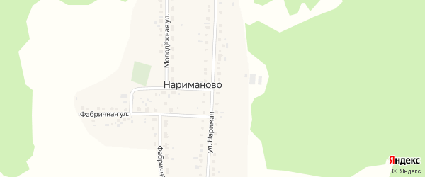 Улица Нариман на карте деревни Нариманово с номерами домов