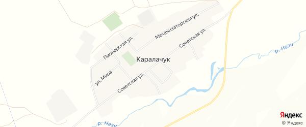 Карта села Каралачук в Башкортостане с улицами и номерами домов