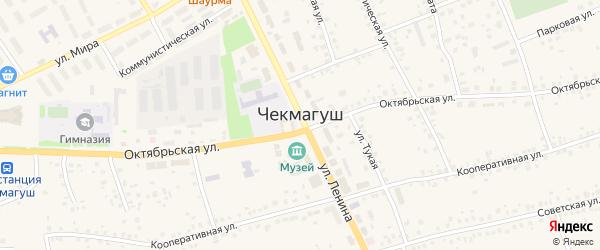 Малая улица на карте села Чекмагуш с номерами домов