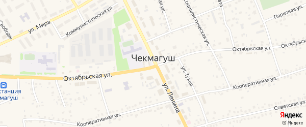 Бакалинская улица на карте села Чекмагуш с номерами домов