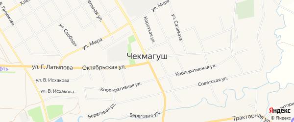 Карта села Чекмагуш в Башкортостане с улицами и номерами домов