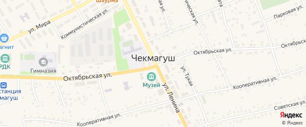 Улица Калинина на карте села Чекмагуш с номерами домов