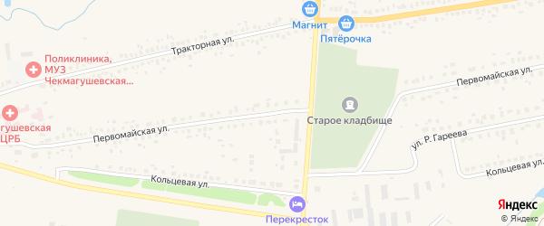 Первомайская улица на карте села Чекмагуш с номерами домов