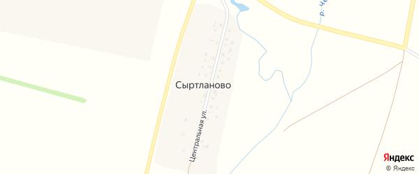 Центральная улица на карте деревни Сыртланово с номерами домов