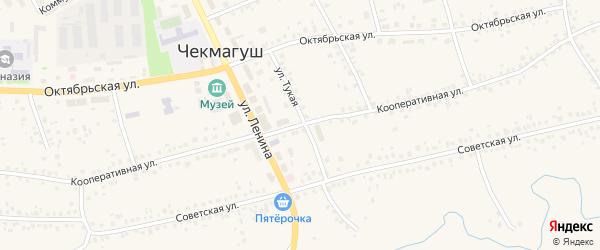 Кооперативная улица на карте села Чекмагуш с номерами домов
