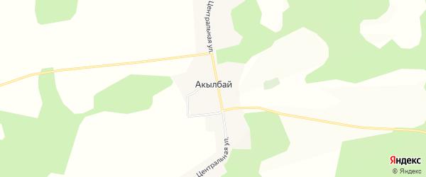 Карта деревни Акылбая в Башкортостане с улицами и номерами домов