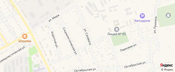 Улица Салавата на карте села Чекмагуш с номерами домов