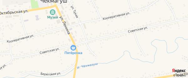 Советская улица на карте села Чекмагуш с номерами домов