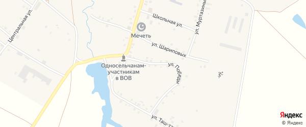 Улица Победы на карте села Имянликулево с номерами домов