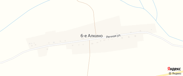 Речная улица на карте деревни 6-е Алкино с номерами домов