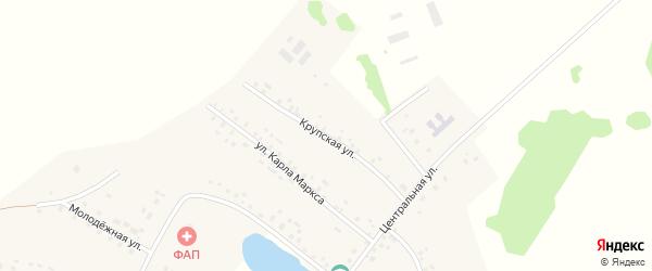 Крупская улица на карте села Юсупово с номерами домов