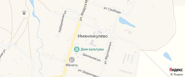 Парковая улица на карте села Имянликулево с номерами домов