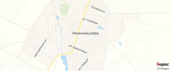 Карта села Имянликулево в Башкортостане с улицами и номерами домов